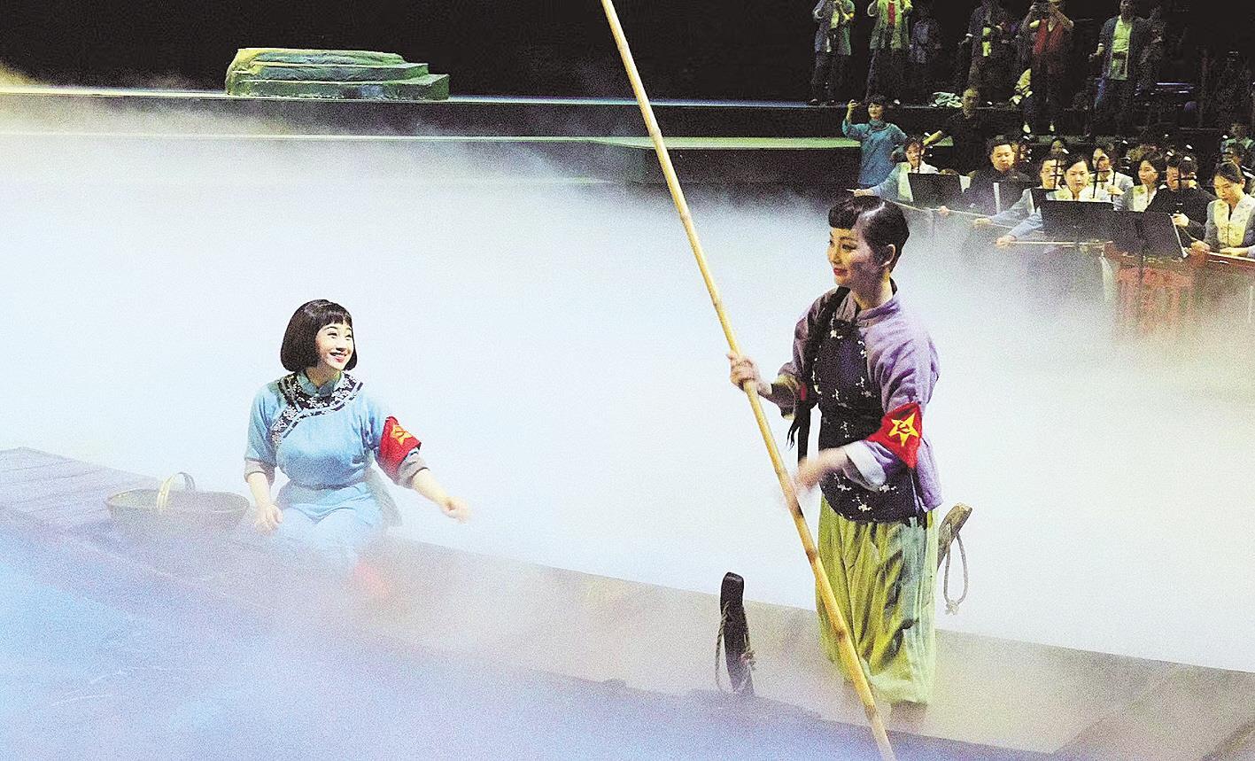 汉秀剧场版洪湖赤卫队大气现代