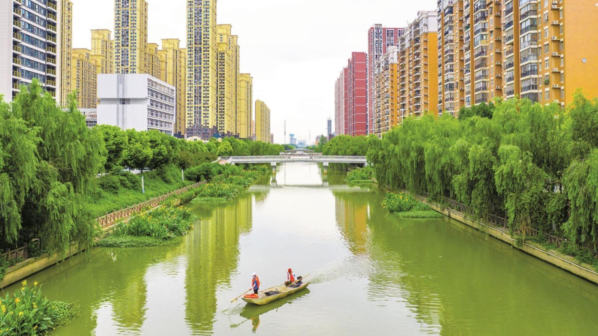 武漢沙湖港:水清岸綠 碧波重現