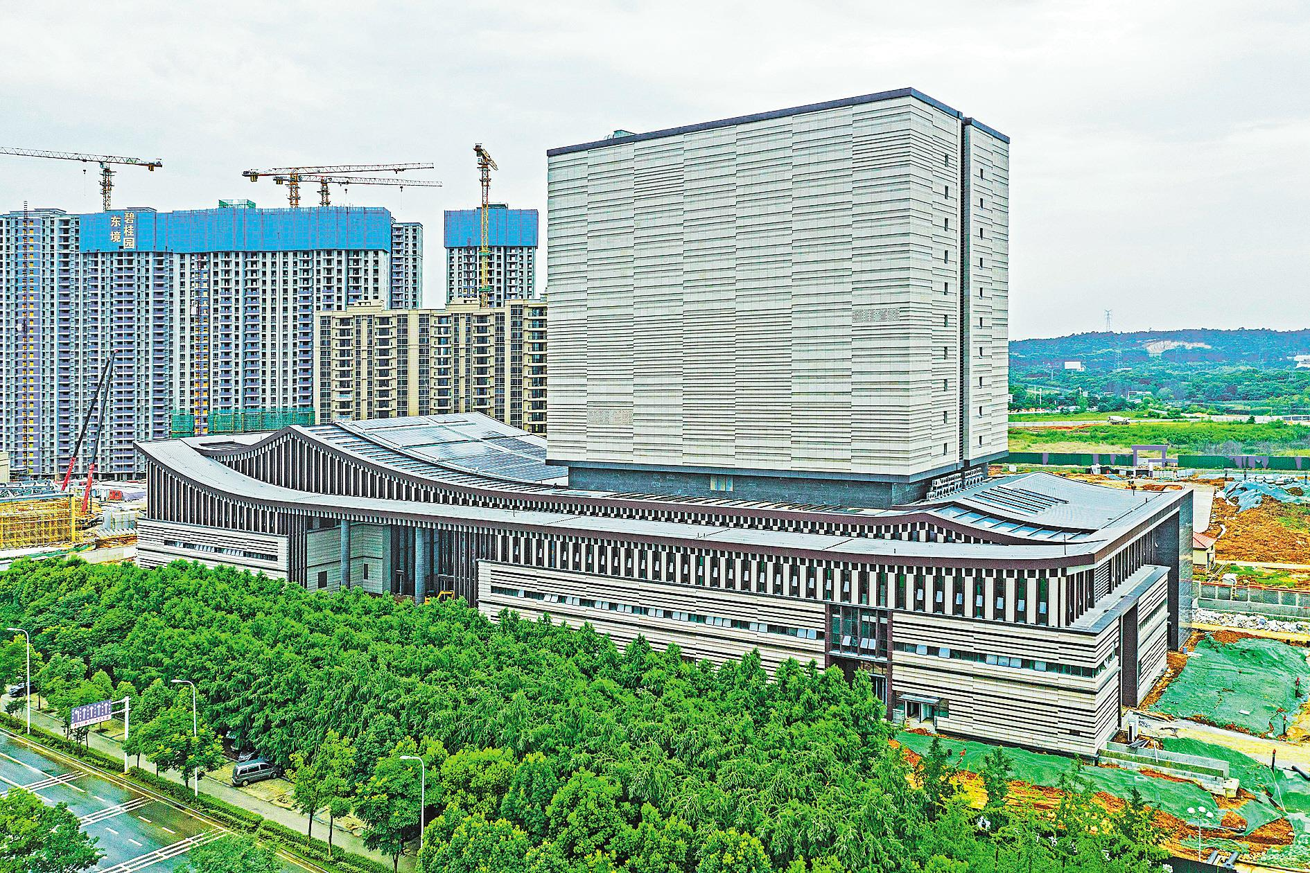 湖北省檔案館新館月底完工