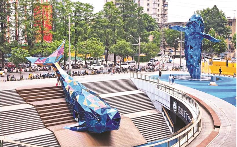 雙子江豚 全球雕塑之最