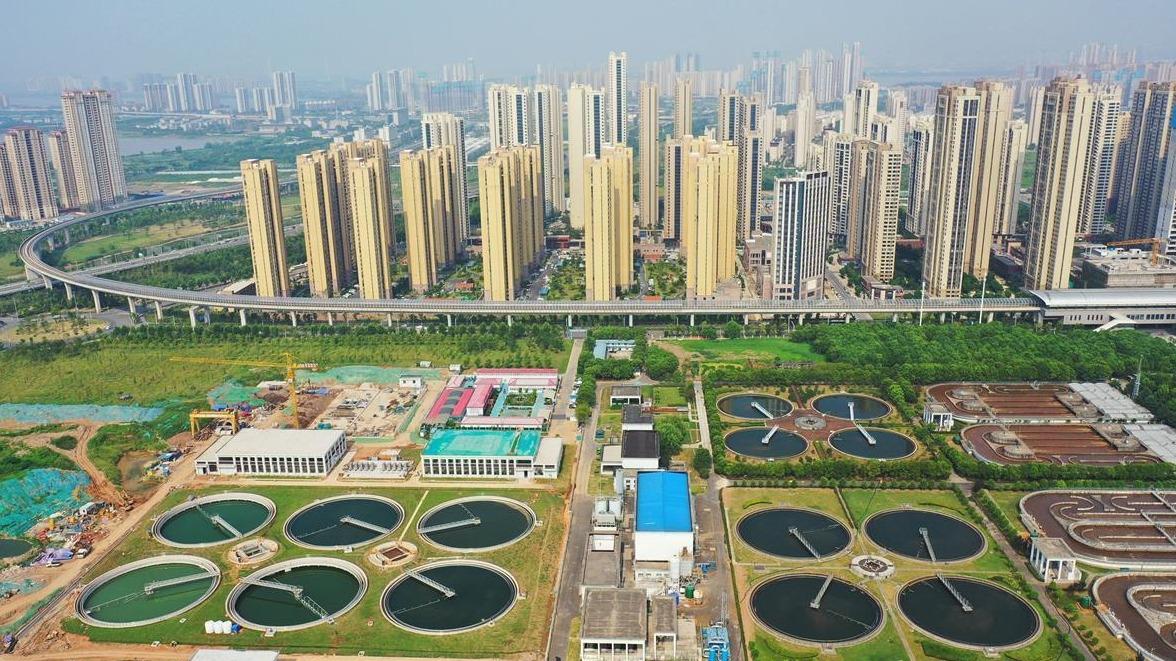 排放水質能養魚:黃家湖污水處理廠三期全面投運