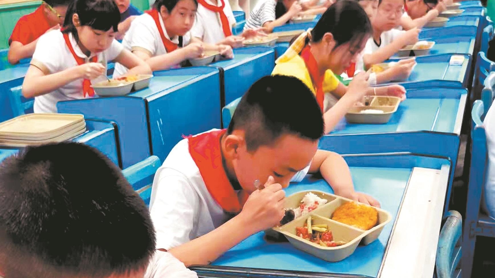 学生餐如何 记者探访武汉部分中小学食堂