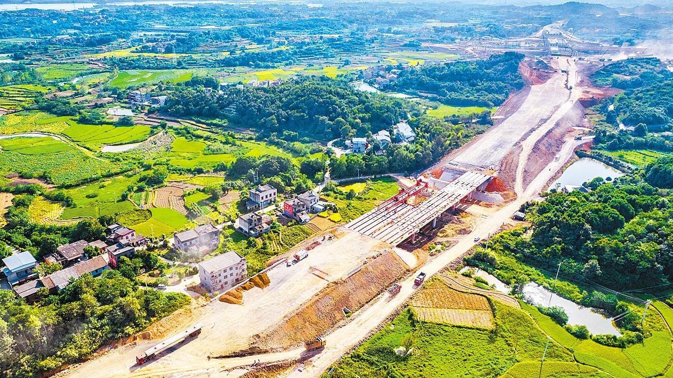 鄂州机场高速建设百日冲刺