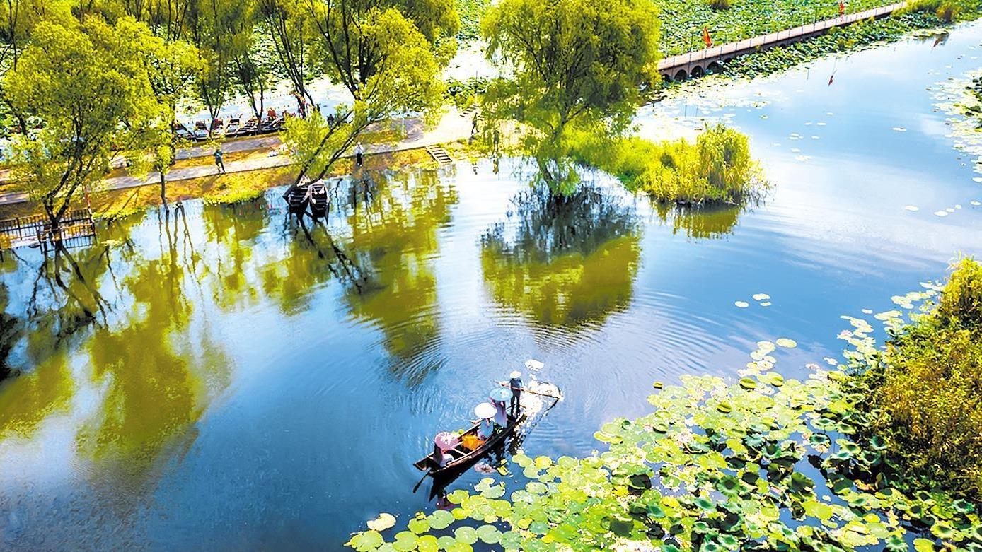 洪湖生态水乡 秋色入画来