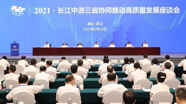 长江中游三省协同推动高质量发展座谈会