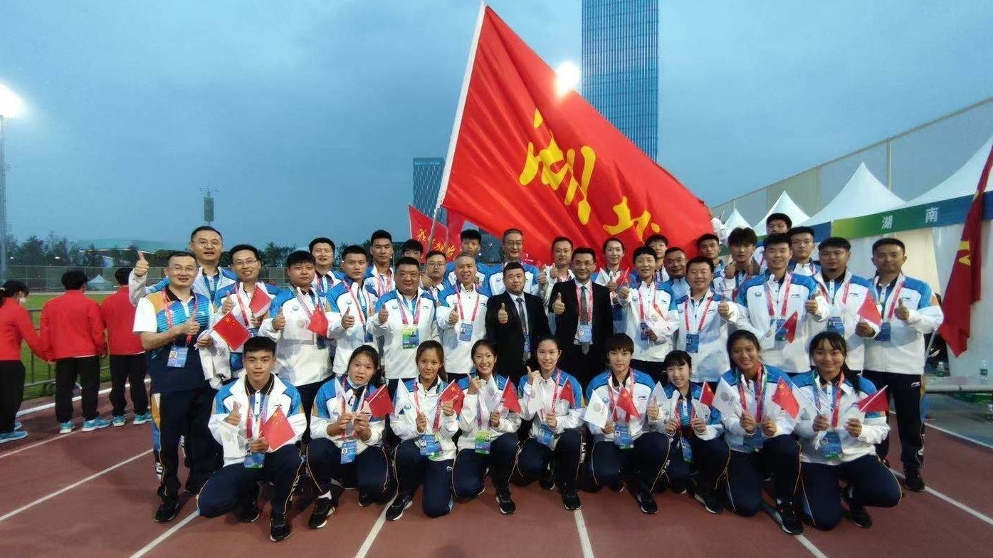第十四届全运会开幕,湖北代表团第18个入场