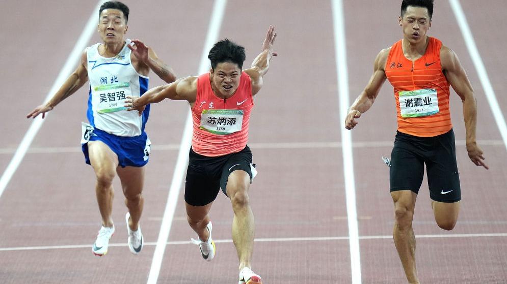 全运会|苏炳添夺得男子百米冠军