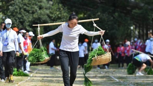 剥玉米、插秧比赛……武汉市第五届农民运动会开赛