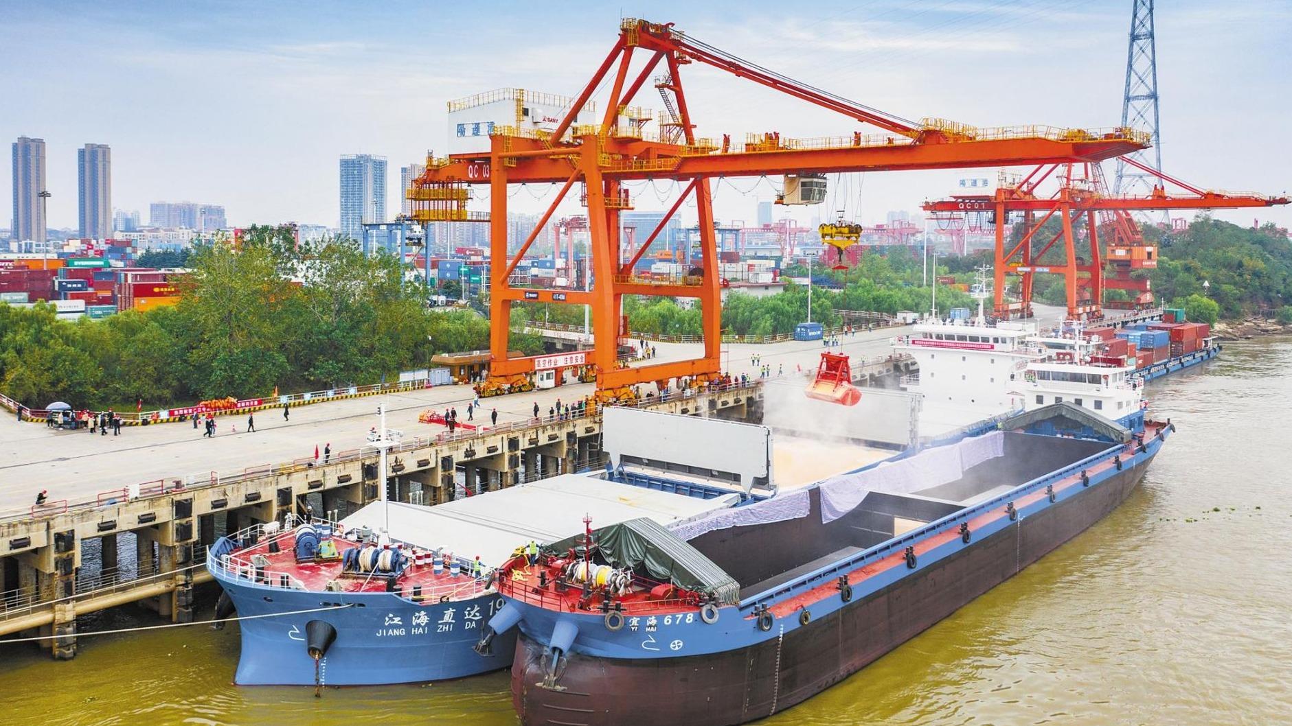 武汉再建江海直达物流大通道