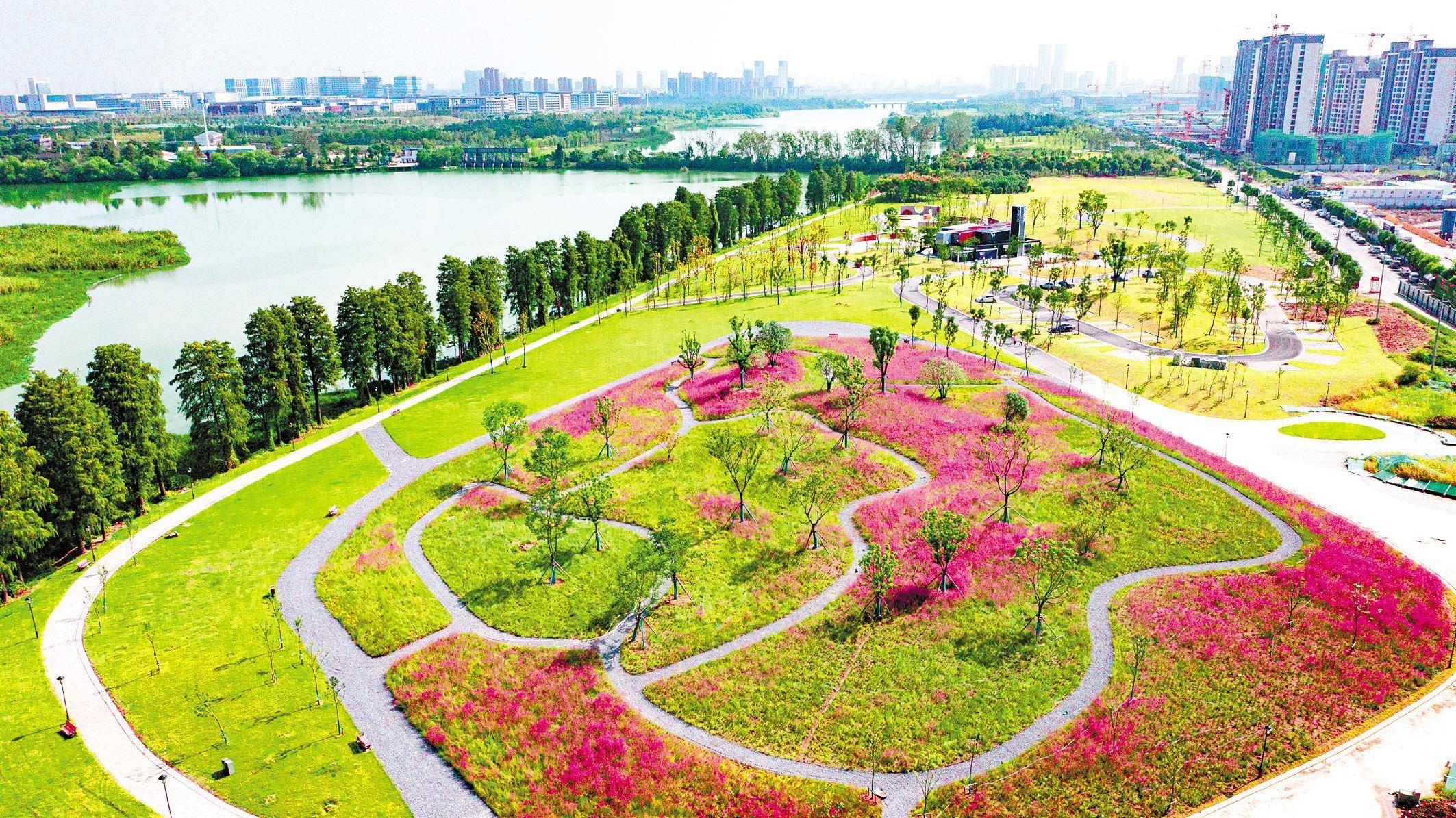 武汉径河公园二期建成