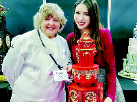 90后美女创作的翻糖蛋糕:美到不忍心下口!