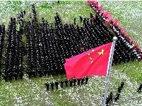 武汉公安举行元旦升旗和迎新长跑