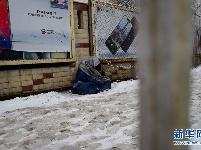 冬天的阿富汗流离失所者