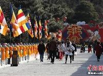 第六届北京八大处新春祈福庙会大年初一迎客