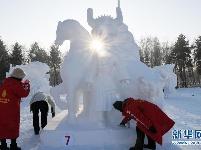 第六届全国大学生雪雕比赛在太阳岛落幕