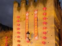 """中国红灯笼点亮摩洛哥""""蓝色小镇"""""""