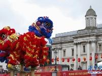 伦敦特拉法加广场举行盛大春节庆典