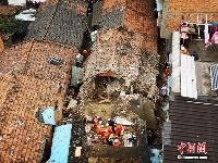 江西南昌产生房屋坍塌 4名被困人员全获救