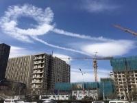 """美!北京天空现圆形""""航迹云"""""""