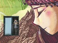 """""""楼体涂鸦""""勾勒校园另类风景"""