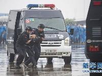 """湖北荆门上演反恐处突演练""""大片"""""""