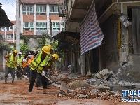 震中双河镇救灾工作有序进行