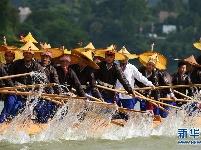 贵州台江:欢度苗族独木龙舟节