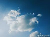 """美!武汉傍晚上空出现一块""""棉花糖"""""""