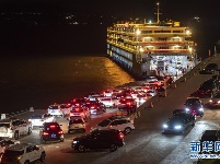 三峡滚装旅游客轮迎大量客流