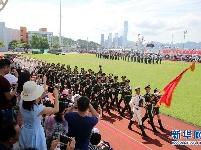 """解放军驻港部队开放海军基地与市民同庆""""七一"""""""