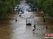 长春持续降雨 双阳河堤决口