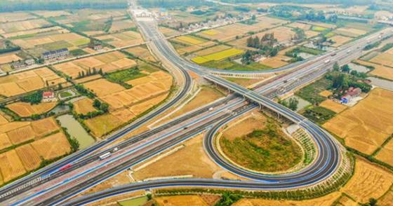 沪渝高速车马阵互通改造工程完工
