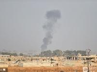 土耳其空袭叙利亚北部 现场浓烟滚滚