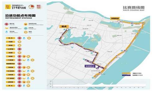 2019武汉女子半程马拉松17日在汉阳举行,交警提醒尽量选择公交出行