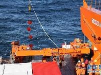 """""""雪龙2""""号首次回收和布放南极考察潜标"""