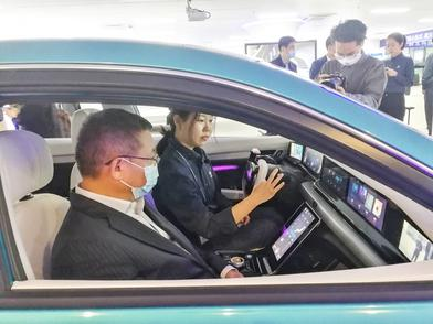 智能健康座舱配备尖板眼 东风概念车打个手势就启动