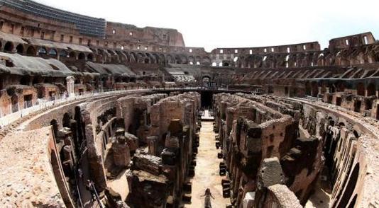 意大利羅馬斗獸場及地下墓穴修復后對媒體開放
