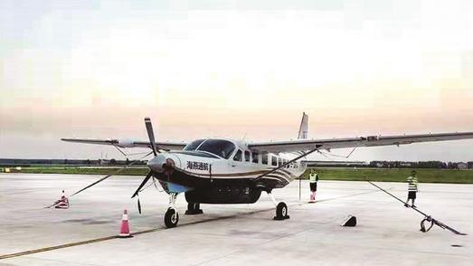 荆州沙市机场起降首架通航飞机