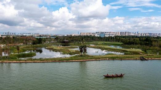 昆明宝丰半岛湿地建设进入收尾阶段