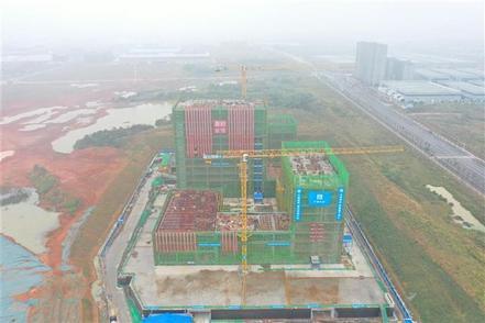 投用后可日检测核酸10万人份 武汉首个市属P3实验室主体结构封顶