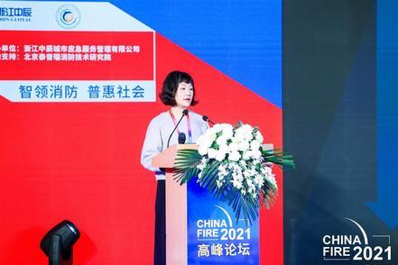 她是全国消防指战员唯一代表 在京介绍武汉消防智慧管理经验